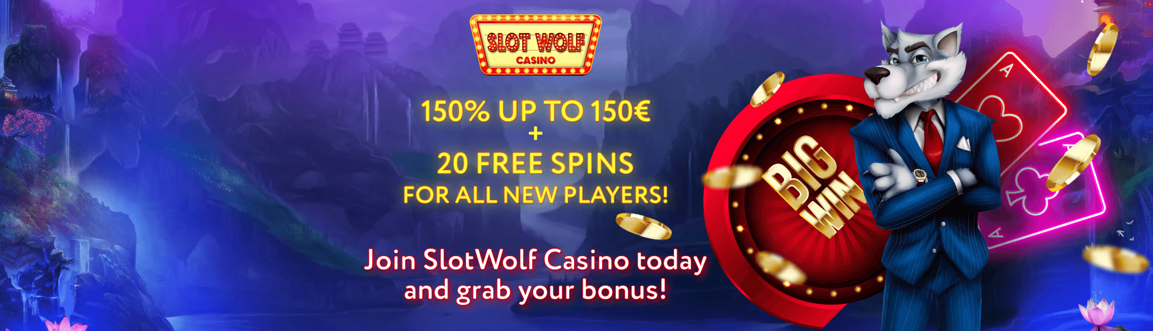 Small Header Banner Slot Wolf Casino