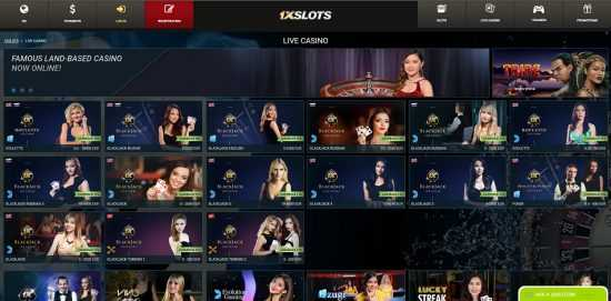 1xSlots Live Casino