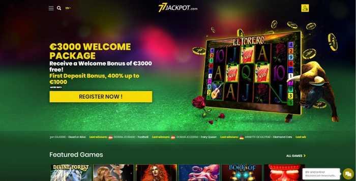 77Jackpot Homepage