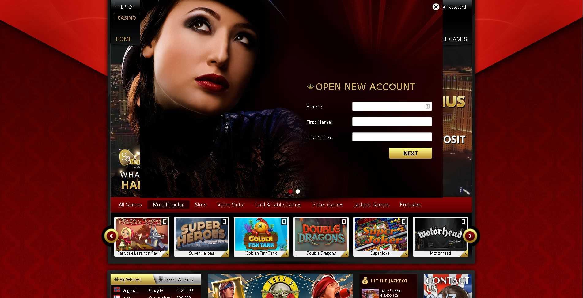 7Red Casino Registration