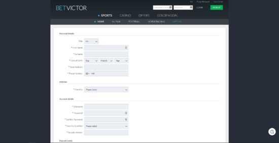 BetVictor Registration
