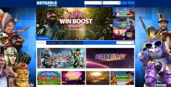 Betreels Casino Homepage