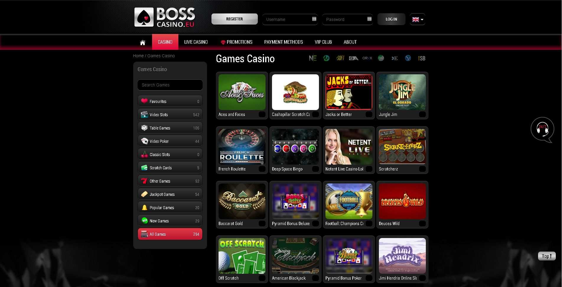 Boss Casino Games