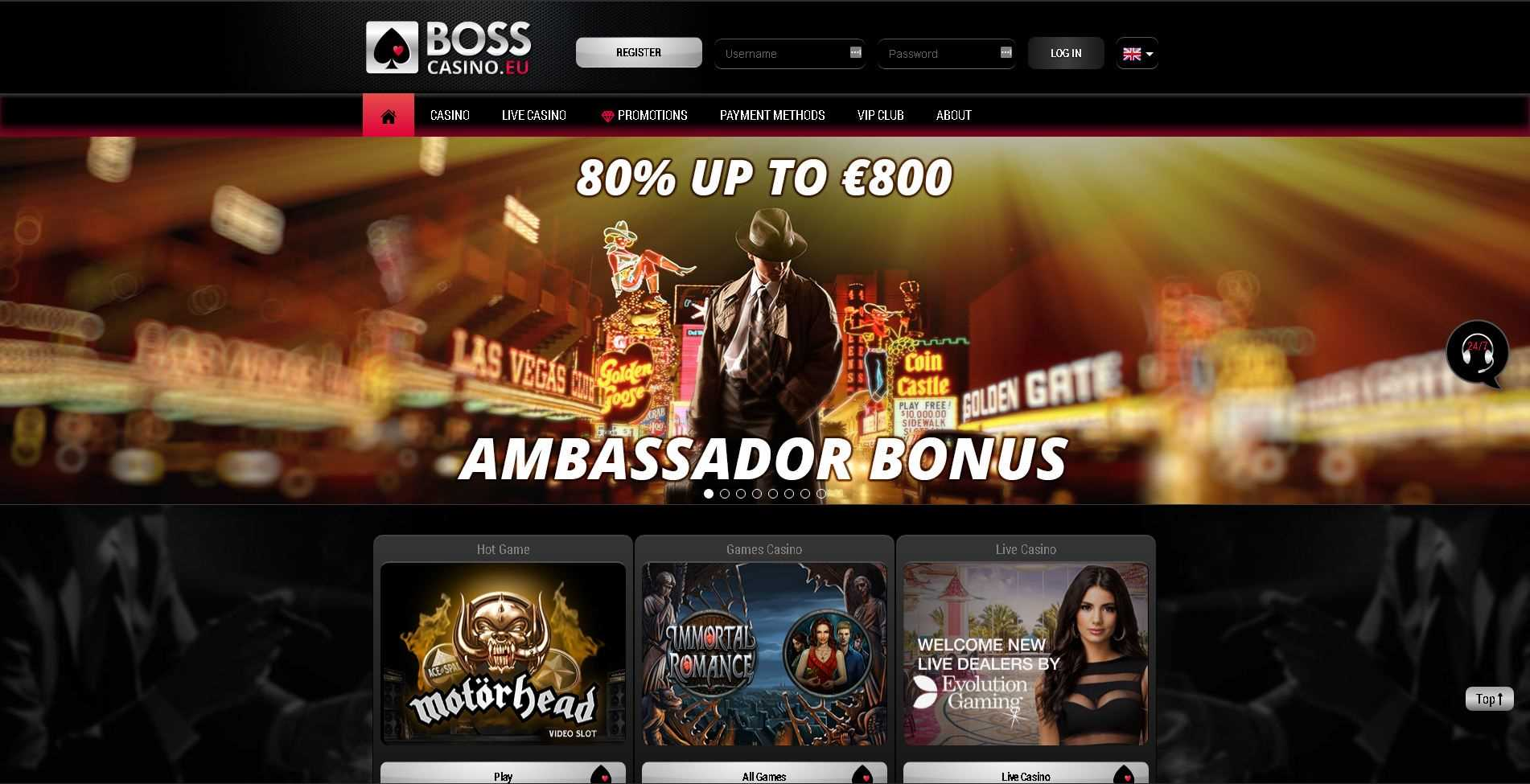 Boss Casino Home