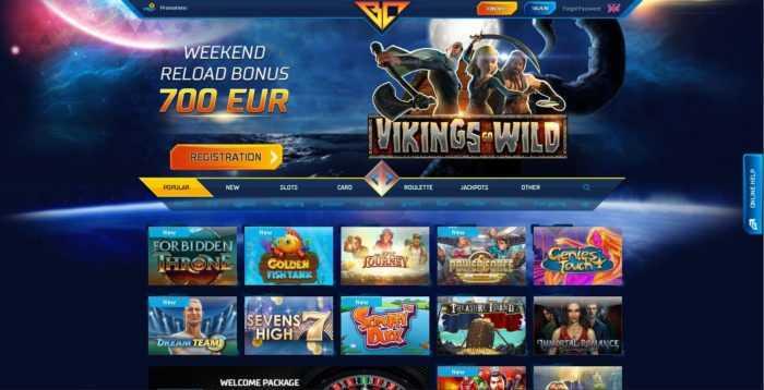 Buran Casino Homepage