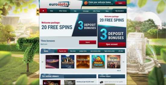 Euroslots Homepage