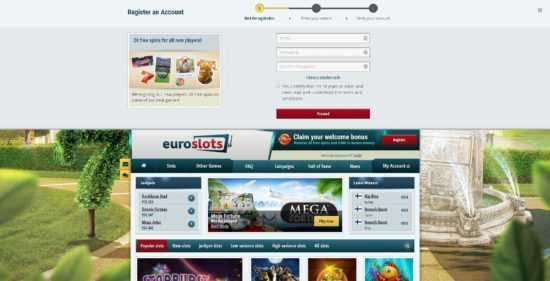 Euroslots Registration