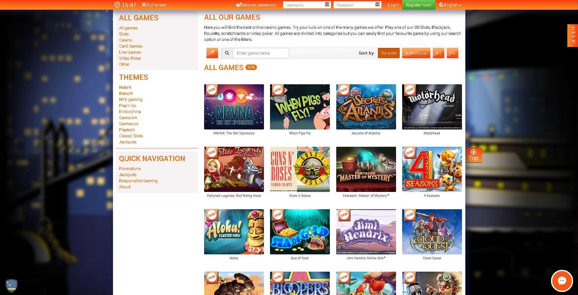 Florijn Casino Games
