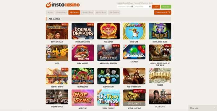InstaCasino Games