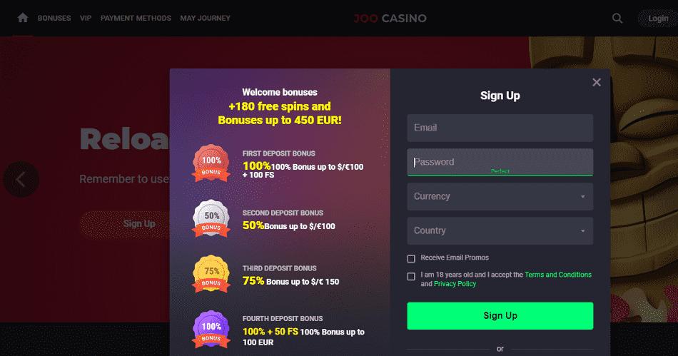 Joo Casino Register