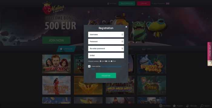 Malina Casino Register
