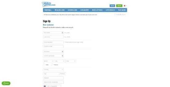 Multilotto Registration