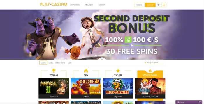 Play Casino Homepage