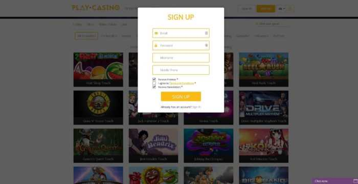 Play Casino Sign Up