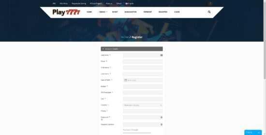Play7777 Register