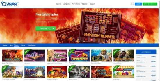 Quasar Gaming Homepage