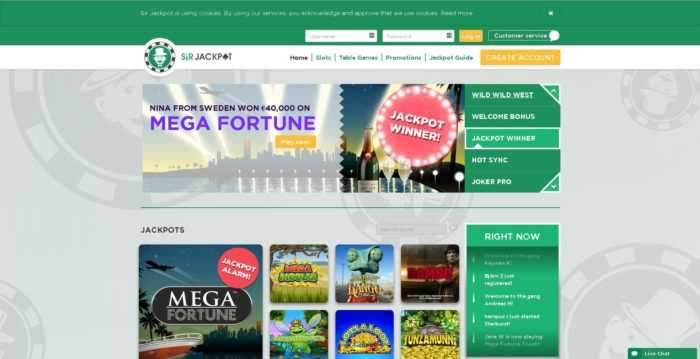 Sir Jackpot Homepage