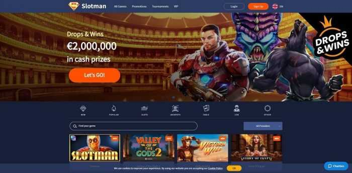 Slotman Casino Homepage