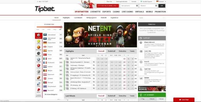 Tipbet Homepage