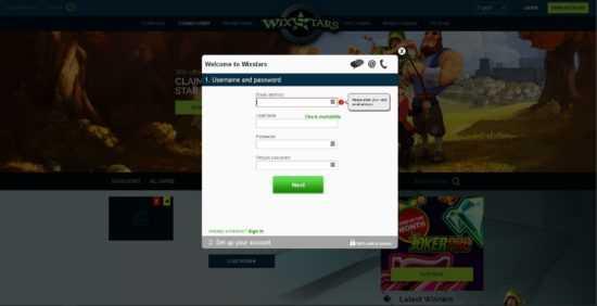Wixstars Registration