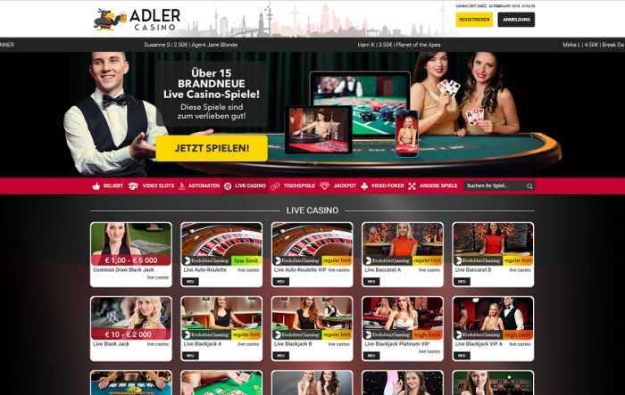 Adler Casino Live Casino