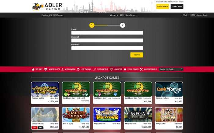 Adler Casino Registration