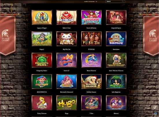 Bronze Casino Games