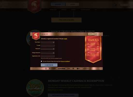 Bronze Casino Register