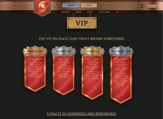 Bronze Casino VIP Progam