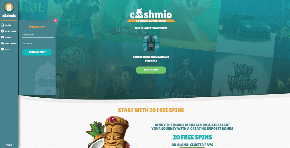 Cashmio Register