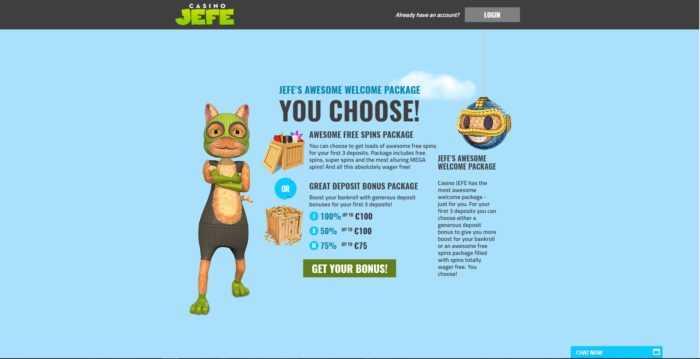 CasinoJEFE Homepage