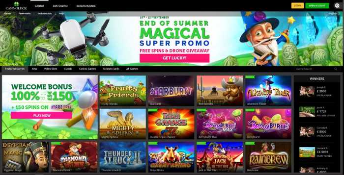 CasinoLuck Homepage