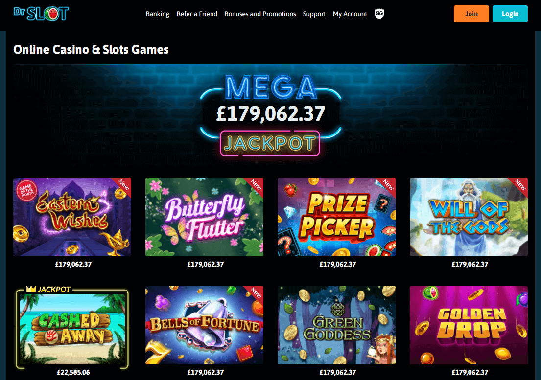 Dr Slot Casino Game Selection