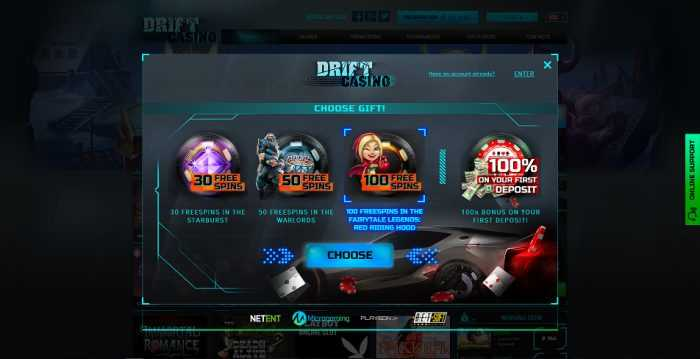 Drift Casino Registration
