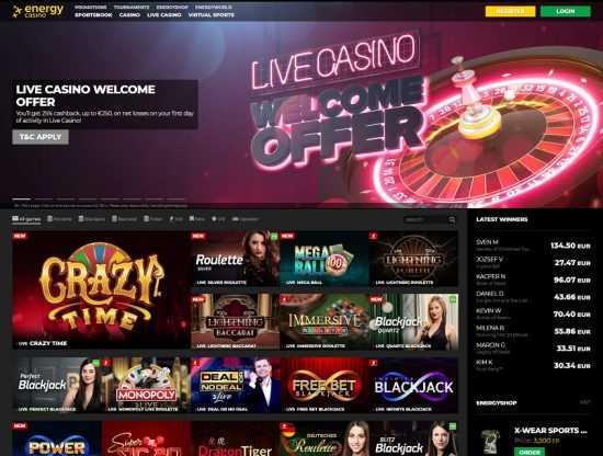 EnergyCasino Live Casino