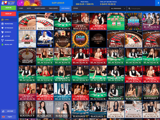 Eu Slot Live Casino