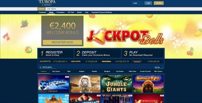 Europa Casino Homepage
