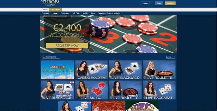 Europa Casino Live Casino