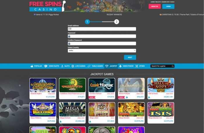 Free Spins Casino Registration