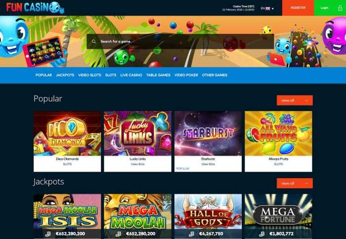 Fun Casino Homepage