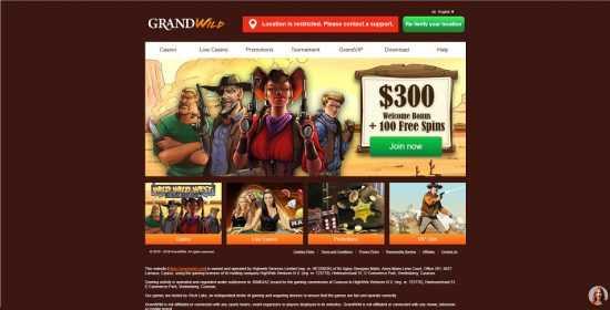 GrandWild Homepage
