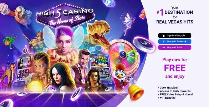 High 5 Casino Homepage