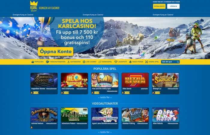 Karl Casino Homepage