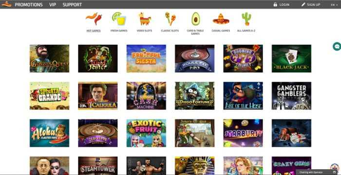 La Fiesta Casino Games