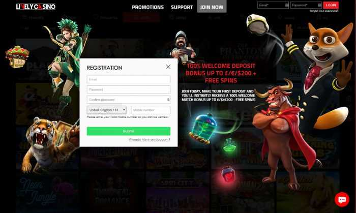 Lively Casino Registration