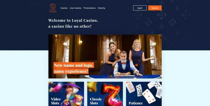 Loyal Casino Homepage