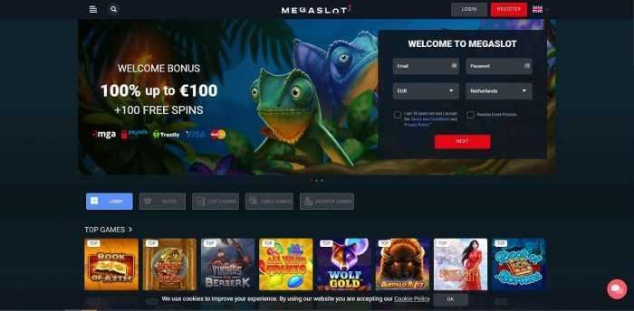 Megaslots Homepage