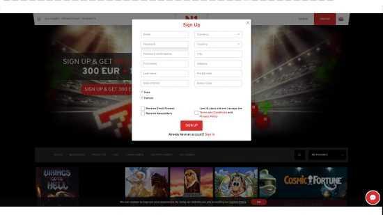 N1 Casino Register