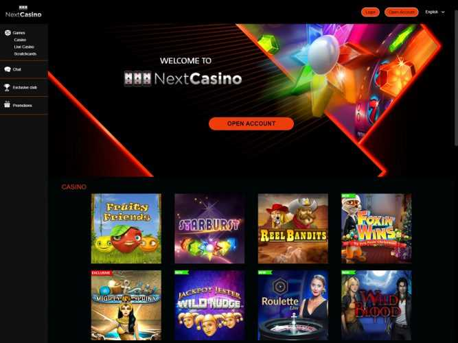 Next Casino Homepage