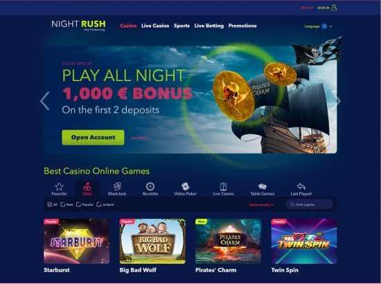 NightRush Homepage